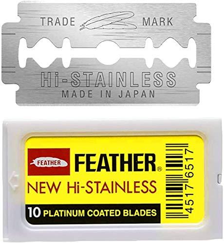 100 Feather New Hi Stainless Rasierklingen