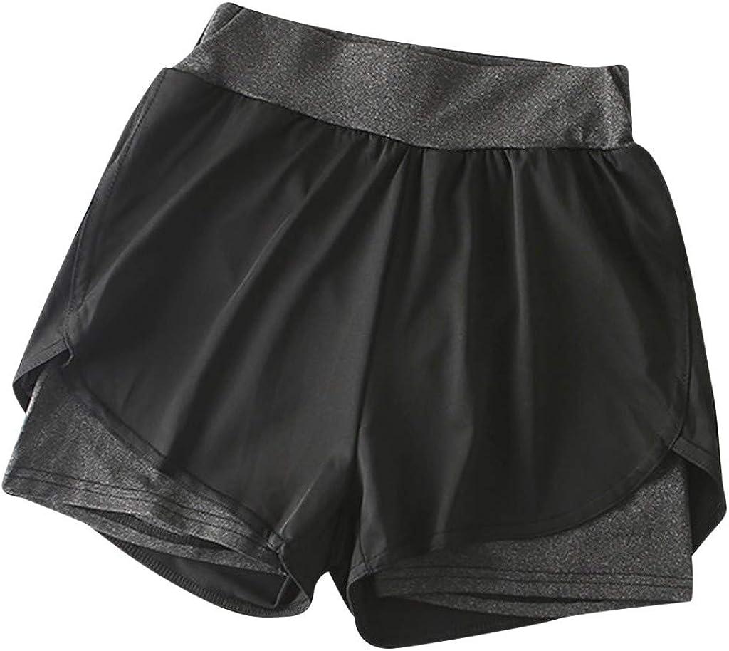 POTO Shorts for Women Casual Summer Drawstring Elastic Waist Lounge Shorts Lace Beach Pants Athletic Sweatpants