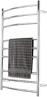 Toallero eléctrico calefactado Estilo Tubo Redondo de 70w, Cuerpo Pulido Espejo, Resistente al Agua, Ahorro de energía, Temperatura Constante, radiador montado en la Pared de Acero Inoxidable