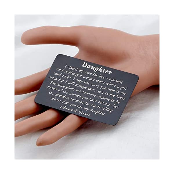 PLITI to My Son Wallet Card Proud of You Gifts I Closed My Eyes for A Moment Engraved Wallet Card for Son for Men