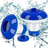 Emooqi Pool Dosierschwimmer, 2 Stück Pool chemischen Spender Chlor Dosierer, 5 INCH Dosierschwimmer mit Einstellbare Belüftungsöffnungen Chemikalien-Spender (Nicht enthalten Chlortabletten)