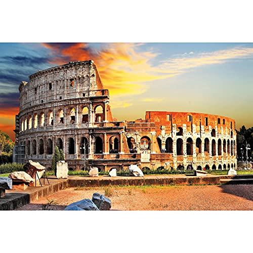 GREAT ART® XXL Póster – Coliseo En Roma – Mural Las Ciudades Turísticas Lugar De Referencia Deco Ciudad De La Metrópoli Italia Motivo Cartel Foto Y Decoración (140 X 100 Cm)