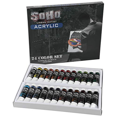 Our #3 Pick is the Soho Urban Artist Heavy Body Acrylic Paint Set