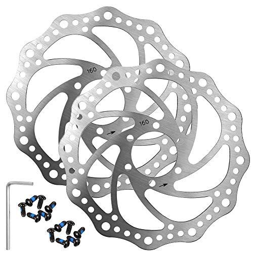 Firtink 2PCS Fahrrad Schwimmende Bremsscheibe mit 12 Schrauben für die meisten Fahrrad Rennrad Mountainbike BMX MTB
