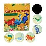 Töpfchen-Trainingssitz-Aufkleber | Töpfchentraining WC Farbwechsel Aufkleber | 5er-Pack Dinosaurier Aufkleber | Verwendung mit oder ohne Töpfchen-Trainingstabellen