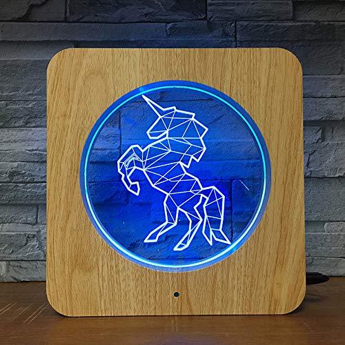 Unicorn Style DIY ized Nachtlicht 3D LED USB Tischlampe Kinder Geburtstagsgeschenk Nachtzimmer Dekoration