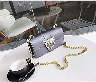 Leather New Women's Shoulder Wallet Versatile Casual Lady Wallet Chain Wallet Shoulder Diagonal Jelly Wallet Matte Waterproof (Color : Purple, Size : S)