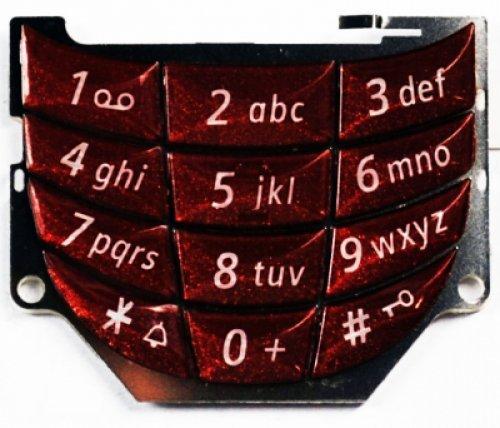 Siemens Tastiera Keypad per SL55 Inferiore Red (Original)