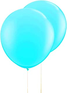 AZOWA Large Round Latex Balloons Teal Blue Jumbo Party Balloons Tiffany Blue Big Balloons for Party Decorations 6 pack 36 inches