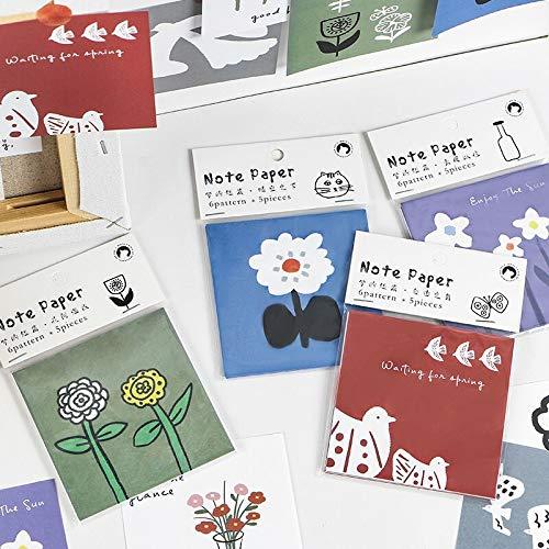 30 Hojas Creativas y Frescas Bloc de Notas Kawaii papelería Notas Papel Diario de niña DIY Adhesivo Decorativo Material de Oficina Escolar