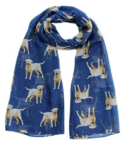 Labrador diseño de impresión de pulsera para mujer con bufanda de perro de raza