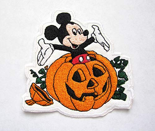Mickey Mouse Pumpkin Patch All Saint's Happy Halloween Cartoon Iron on Patch