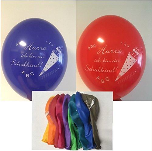 20 Luftballons zur Einschulung Schulanfang bunt Sortiert, ungefüllt