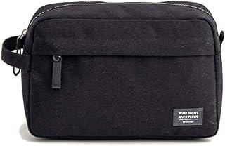 حقيبة أدوات الزينة للرجال حقيبة سفر لتنظيم إكسسوارات للنساء، مقاومة للماء، خفيفة الوزن, , أسود - B07KSJK64G