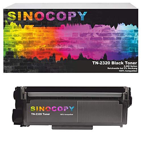 SinoCopy Toner 2600 Seiten ersetzt Brother TN-2320, TN2320, TN 2310, TN2310