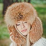 Woman's Real Fox Fur Hat Winter Russian...