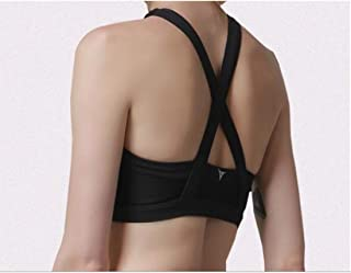 ZYDP Women Sport Bras Padded Racerback Yoga Bras Activewear Workout Bra (Color : Black, Size : M)