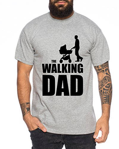 The Walking Dad Camiseta de Hombre Nerd Dead, Farbe2:Marengo Mezclado;Größe2:M