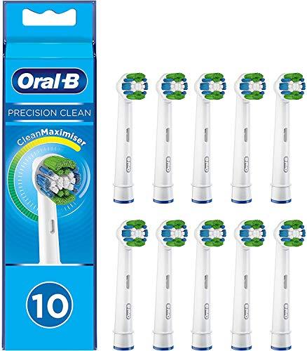 Oral-B Precision Clean Testine di Ricambio per Spazzolino Elettrico con Tecnologia CleanMaximiser, Confezione da 10 Pezzi, Pacco Adatto alla Buca delle Lettere