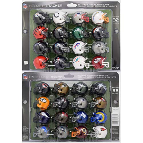 New Riddell 32 Piece NFL Helmet Tracker Set - gumball size helmets - All NFL current Logo's - New 2020 Version