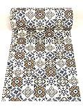 De'Carpet Vinilo PVC A Medida Alfombra FÁCIL Limpieza Antideslizante BALDOSA HIDRÁULICA Mostaza (65cm Ancho) (3 Metros)
