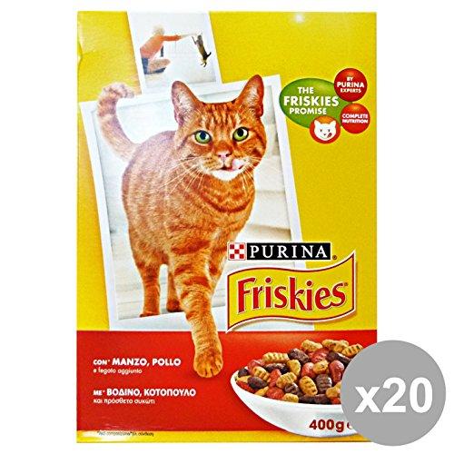 Friskies Katzenfutter Fleisch, Mehrfarbig, einfarbig, 20 Stück