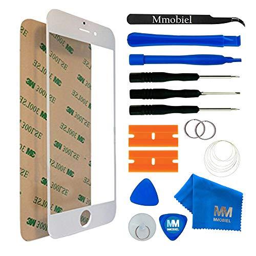 MMOBIEL Front Glas kompatibel mit iPhone 6 / 6S 4,7 Inch Series (Weiss) mit Werkzeug Set