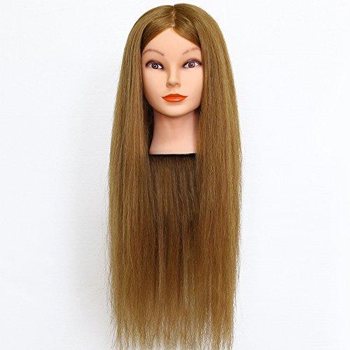 Neverland 26-Zoll-Frisierkopf, 90% Echthaar, Übungskopf für Auszubildende im Friseurhandhandwerk, mit Halterung, blond, 66 cm