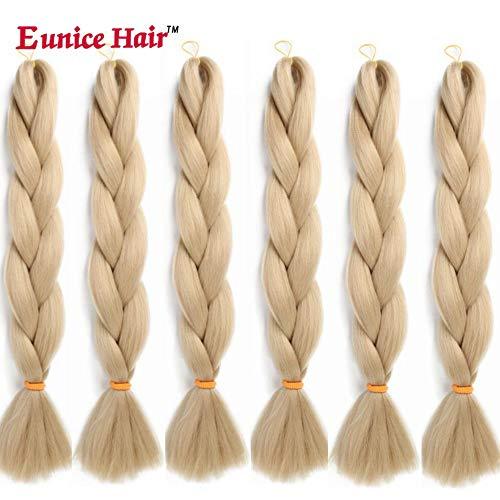 6 Packs Eunice Hair Jumbo Flechten Hair Extensions Colorful Kunsthaar Kanekalon Haar für Heimwerker Crochet Box Zöpfe 100 g/pcs 61 cm (#24)