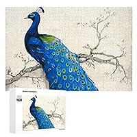 500/1000ピースパズルBlue Peacock木製パズル。 大人と子供に適しています。 写真に合わせてカスタマイズできます。