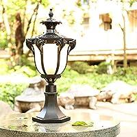 WFZRXFC ヨーロピアンスタイル屋外照明ポストライトクリエイティブモデリングダイキャストアルミニウムポールランタンE27結婚式の装飾に適した防水性と防湿性のコラムライトチャンネル照明ピラーランプ