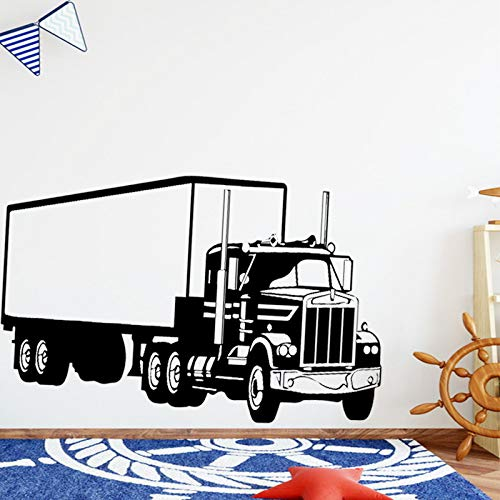 American-Style Truck Wandkunst Aufkleber Wandaufkleber PVC-Material für Kinderzimmer Wohnkultur Diy Wohnkultur Gold L 43cm x 68cm