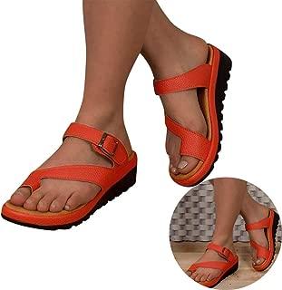Woman Girls Slingback Slippers Comfy PU Leather Roman Sandals Non Slip Flat Flip Flops Thick Bottom Beach Pumps Sandals