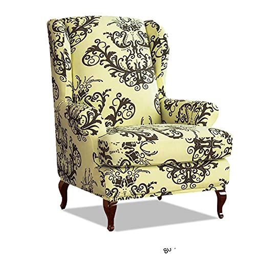 VanderHOME Fundas de sillón con Orejas Fundas de sillón reclinable Relax Fundas de Silla elástica con Cojin Separado Protector de Muebles Sofá de 1 Plaza Funda Cojín Independiente café