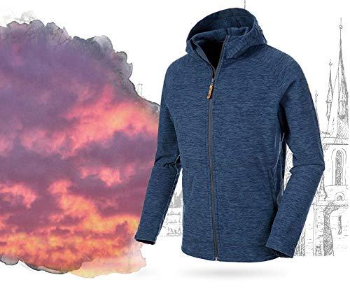 llzshoutao Veste polaire militaire automne et hiver coupe-vent veste chaude Forte Locker Grand Pull @ 535 Blueberry Blue Male (04161106) AM