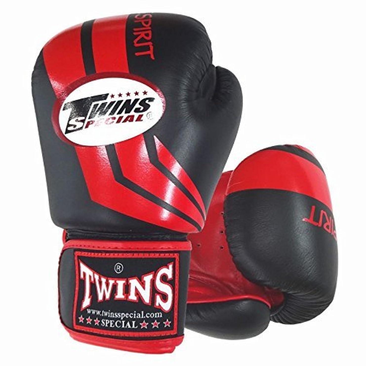 そこからサイクロプス欠伸Twins ボクシンググローブ 本革製 ストライプ Red/Black