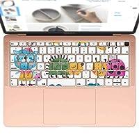 igsticker MacBook Air 13inch 2018 専用 キーボード用スキンシール キートップ ステッカー A1932 Apple マックブック エア ノートパソコン アクセサリー 保護 009791 動物 うさぎ キャラクター