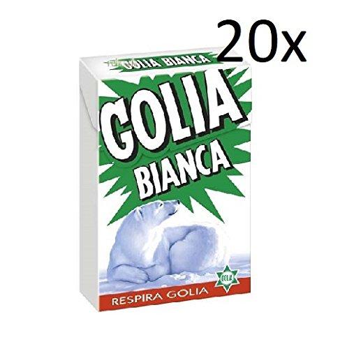 20x Perfetti Golia Bianca Süßigkeiten frisch Geschmack italien Bonbon Lollies 49g