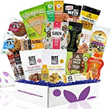 High Protein Fitness Snack Box: Premium Mix of Healthy Gourmet Protein Snacks On The Go Meal Replacements,Great Fitness Care Package Gifts for Dads