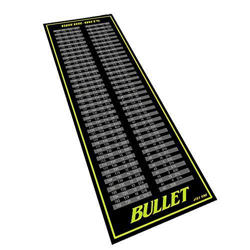 Bullet Hochwertige Turnier Dartmatte 237x80cm in Check-Out Grün