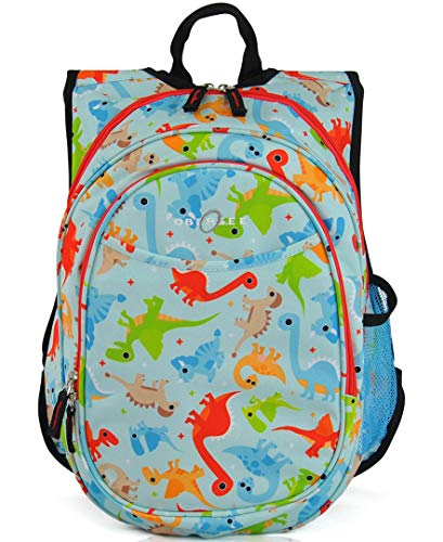 Obersee Kid's All-in-One Pre-School Backpacks with Integrated Cooler, Dinos