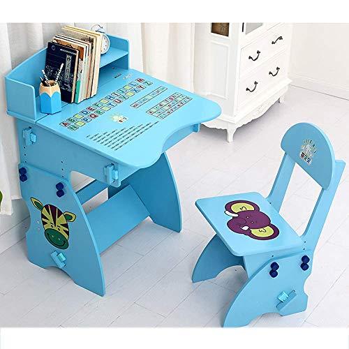 NBVCX Juego de sillas de Piezas mecánicas con Almacenamiento, Estudio, Escuela Infantil, Altura Ajustable, Mesa para niños, Escritorio para niños (Color: Rosa)