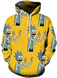 Chaos World Herren Kapuzenpullover Cartoon 3D Druck Grafisches Pullover Langarm Sweatshirt Mit...