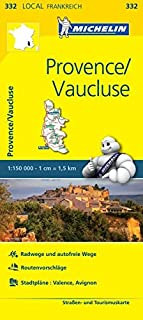 Michelin Provence - Vaucluse: Straßen- und Tourismuskarte 1:150.000
