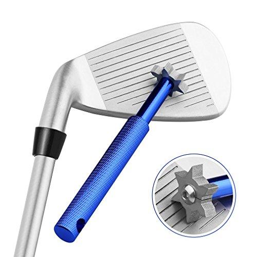 Vancle ゴルフアクセサリー ゴルフクラブ グルーヴ シャープナー ウェッジクリーナー ゴルフアイアン溝削り シャープカッターツール (ブルー)