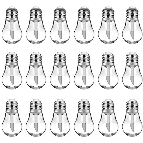 RONRONS 20 Pieces Funny Light Bulb Shaped Lips Balm Tube, Small Empty Refillable Lips Gloss Bottles, DIY Cosmetics Lipstick Containers with Silver Cap, Travel Makeup Sample Holder,6ML