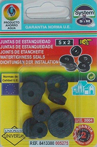 S&m JUNTA FONTANERIA S& M SOLETA GRIFO 10PZ SURTIDO 005275 10 PZ