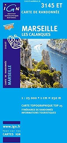 3145 ET Marseille, les Calanques, ( Südfrankreich, Cote d'Azur, Bouches-du-Rhone), Frankreich topographische Wanderkarte 1:25.000, Top 25, IGN