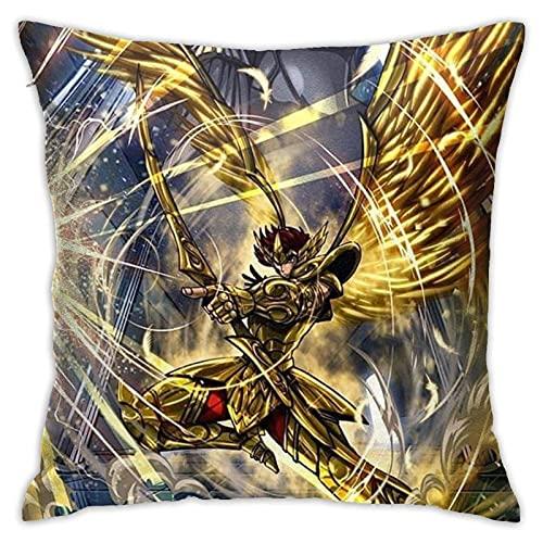 qinhuang Schütze Saint Seiya maßgeschneiderte Kissenbezüge Kissenbezüge, zum Dekorieren Sofa Schlafzimmer 18x18 Zoll Kissen Kissenbezug