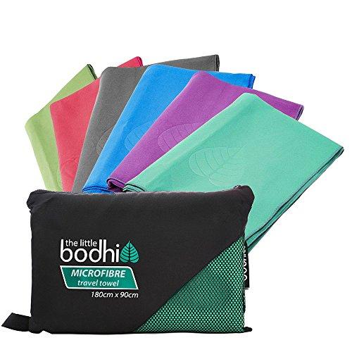 Asciugamano in microfibra con borsa per il trasporto. Asciugamano colorato, ad asciugatura rapida. Ideale per viaggi, palestra, campeggio, nuoto, yoga e pilates, Turquoise, x-L 180 cm x 90 cm